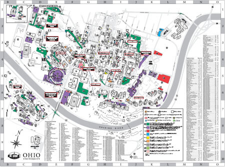 Athens Campus Map.Maps Ohio University