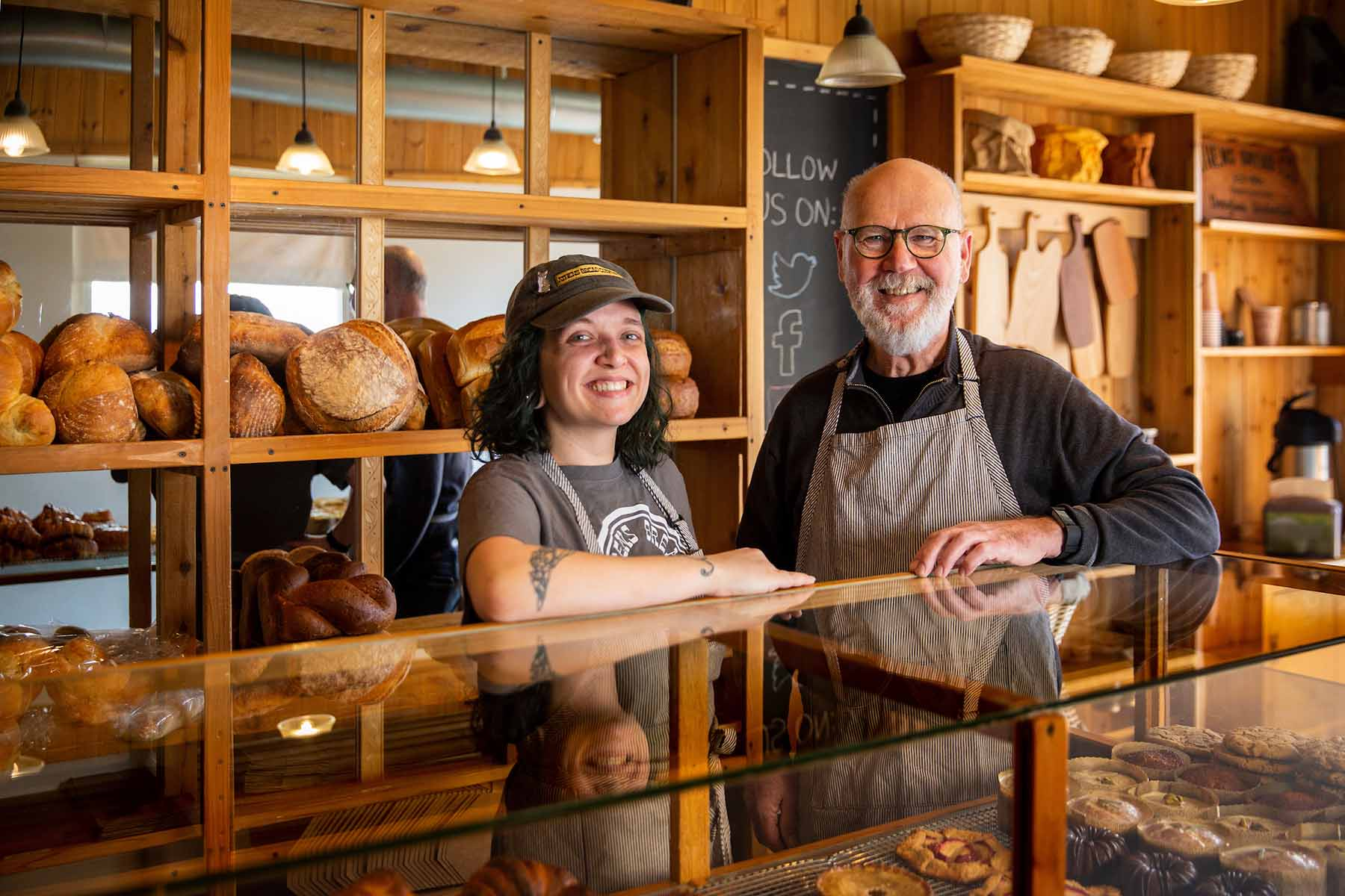 Photographs of baked goods, staff and the environment at Athens Bread Company in Athens, Ohio on March 19, 2019
