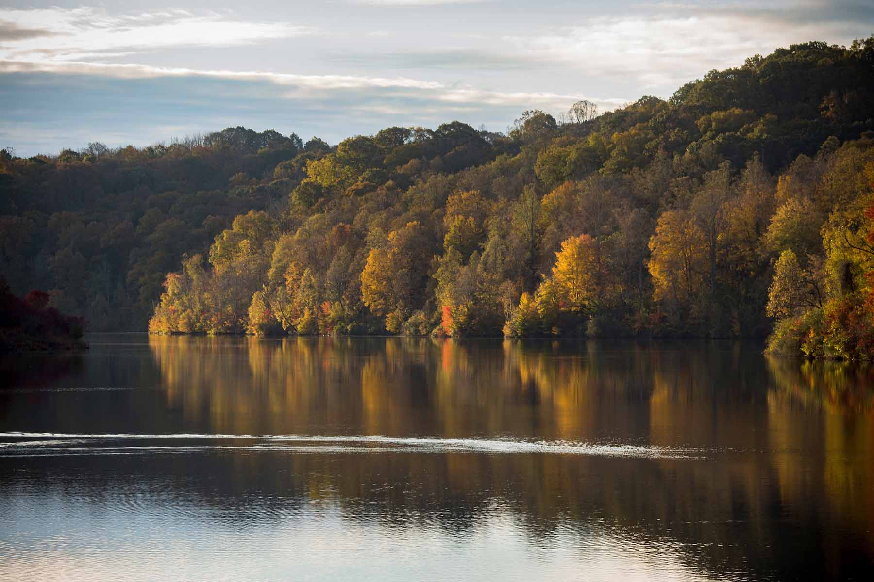 Generic scenic photographs of Fall colors along Dow Lake at Strouds Run State Park in Athens, Ohio on October 29, 2018