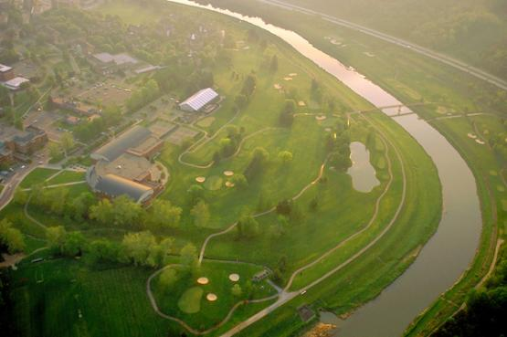 Aerial view of the Ohio University Athens golf course