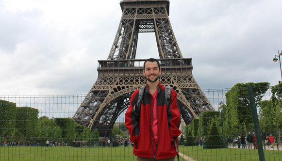 Jack Byrne at Eiffel Tower