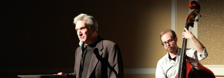 Robert Pinsky performs with musician Daniel Gerald Spencer at the 2015 Spring Literary Festival.