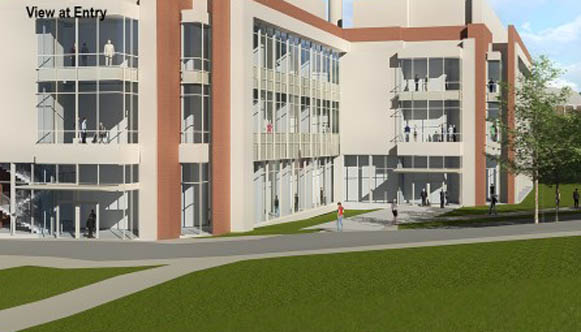 Architects' rendering of new chemistry building