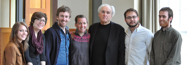 Poetry students with Visiting Writer Frank Bidart.