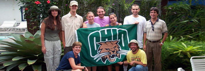 Students and faculty on a study of Neotropical Rainforest Ecology in Brazil