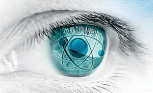 "Graphic of eye for ""view on physics and astronomy"""