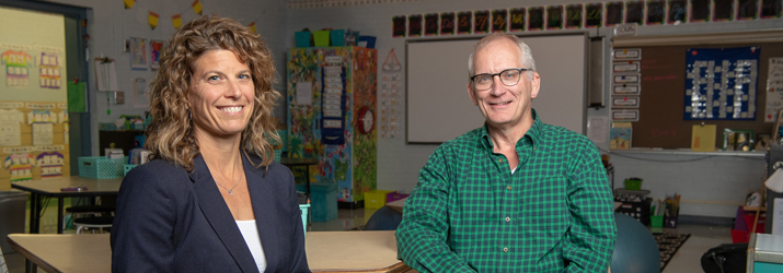 Dr. Julie Owens and Dr. Steve Evans have received a $3.2 million grant from the federal Institute of Education Sciences to study the effectiveness of a new professional development program for elementary schoolteachers.