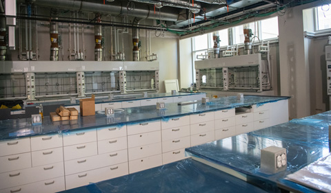 New chemistry building labs