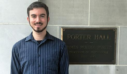 Levi Toback, portrait by Porter Hall sign