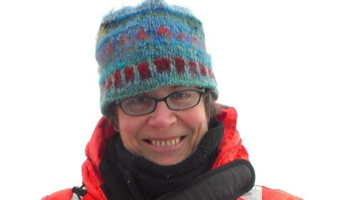 Lisa Crockett, portrait in winter gear for research