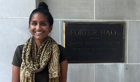 Shakti Rambarran, portrait by Porter Hall sign