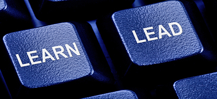 "Keyboard keys with ""Learn"" and ""Lead"" labels"