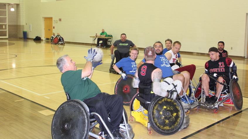 Experiencing the Blitz of quad rugby