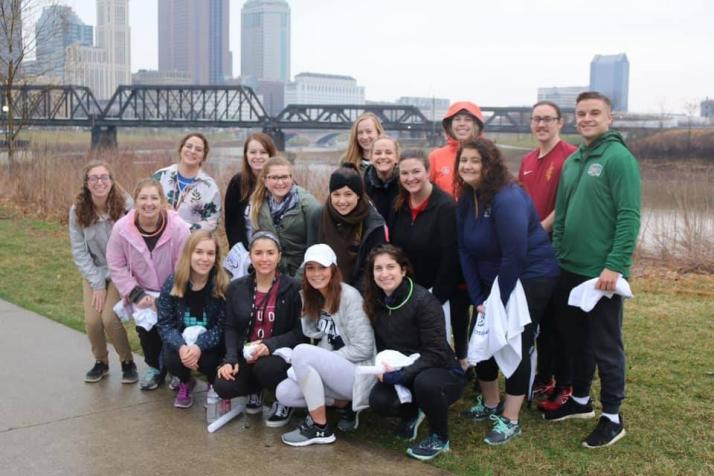Photo of Student Academy of Audiology 5K Volunteers