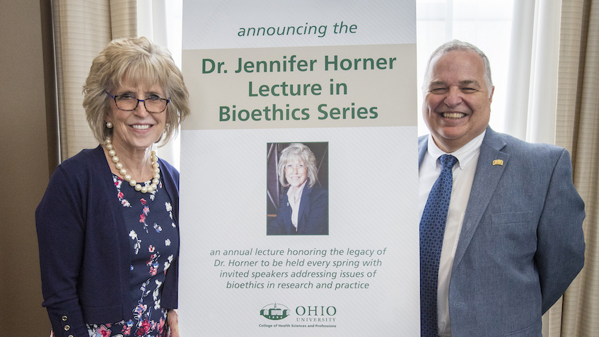Inaugural Jennifer Horner Lecture in Bioethics Series dives deep into the ethics of medical care and human life