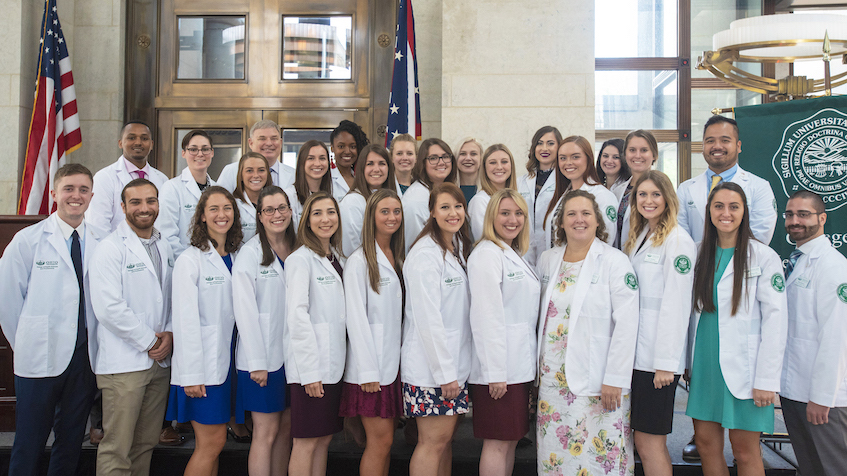 File photograph of the physician assistant class of 2019
