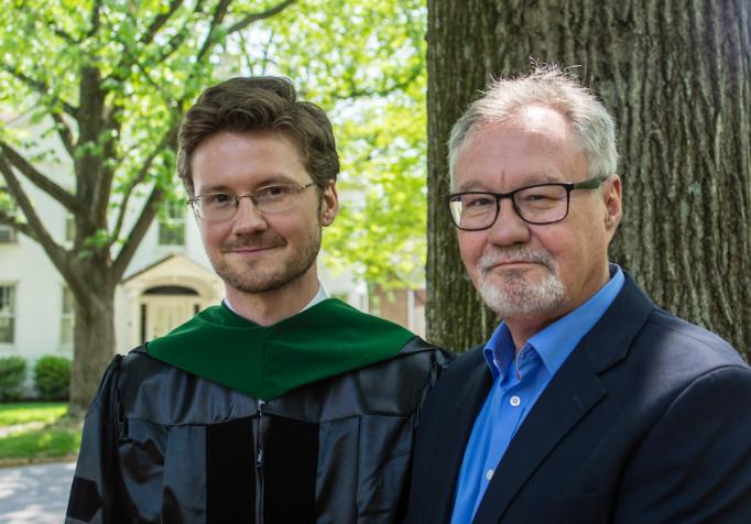From left to right: Dr. Trent Hall and father Orman Hall.