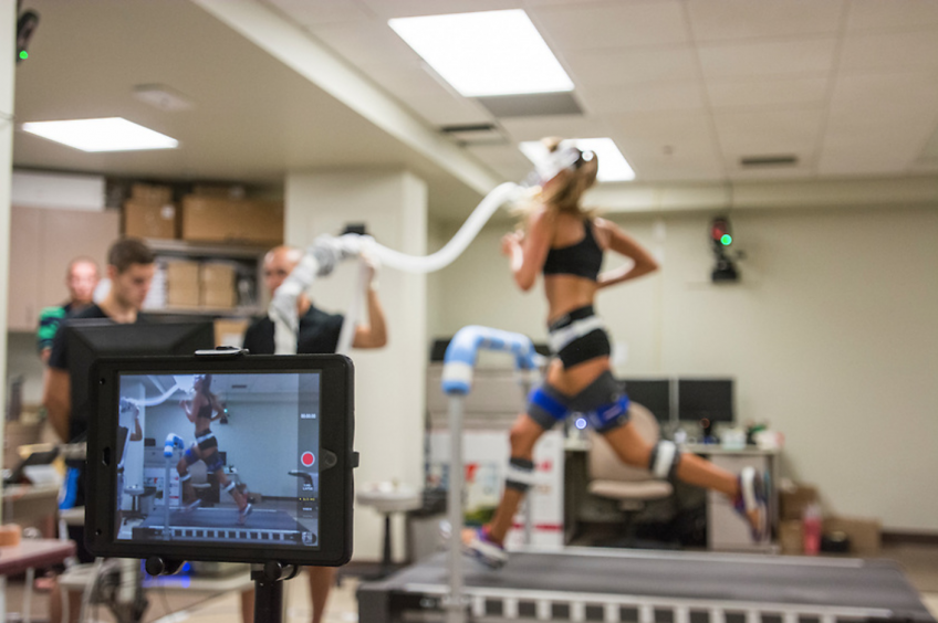 Girl Running in Physical Therapy Lab