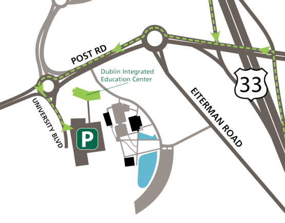 Map of the directions to campus