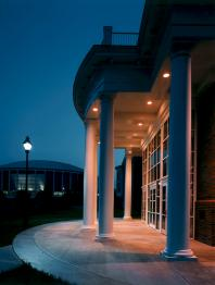 Grover Center at night