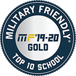 Military Friendly School Top 10 school for 2019-20