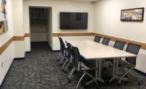 A conference room in the George E. Hill Center
