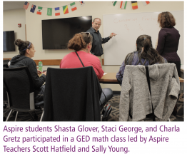 Aspire Students GED math class