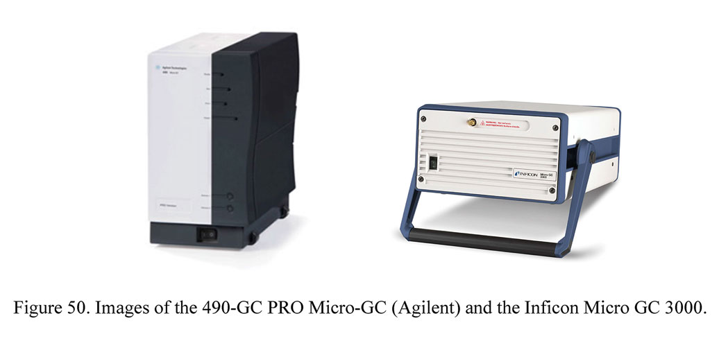 Images of the 490-GC PRO Micro-GC (Agilent) and the Inficon Micro GC 3000