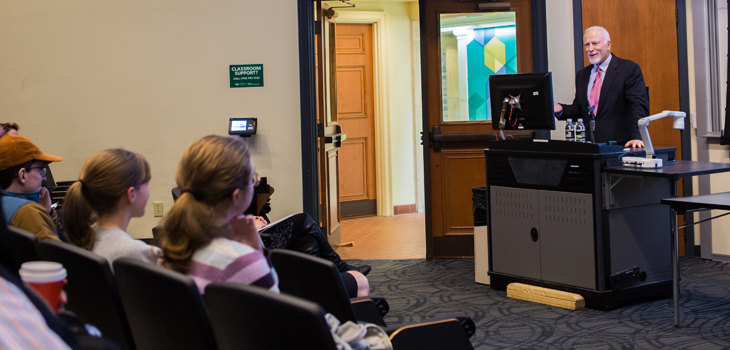 Russ Prize recipient, stent inventor shares story behind the story during Engineers Week lecture
