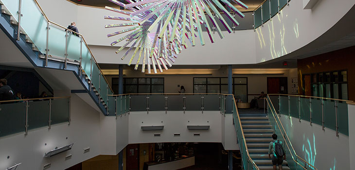 The atrium of the Academic and Research Center (ARC)