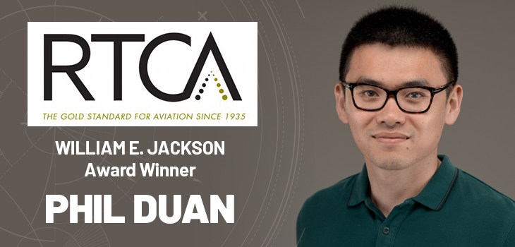 Premier aviation association names electrical engineering alumnus top graduate student