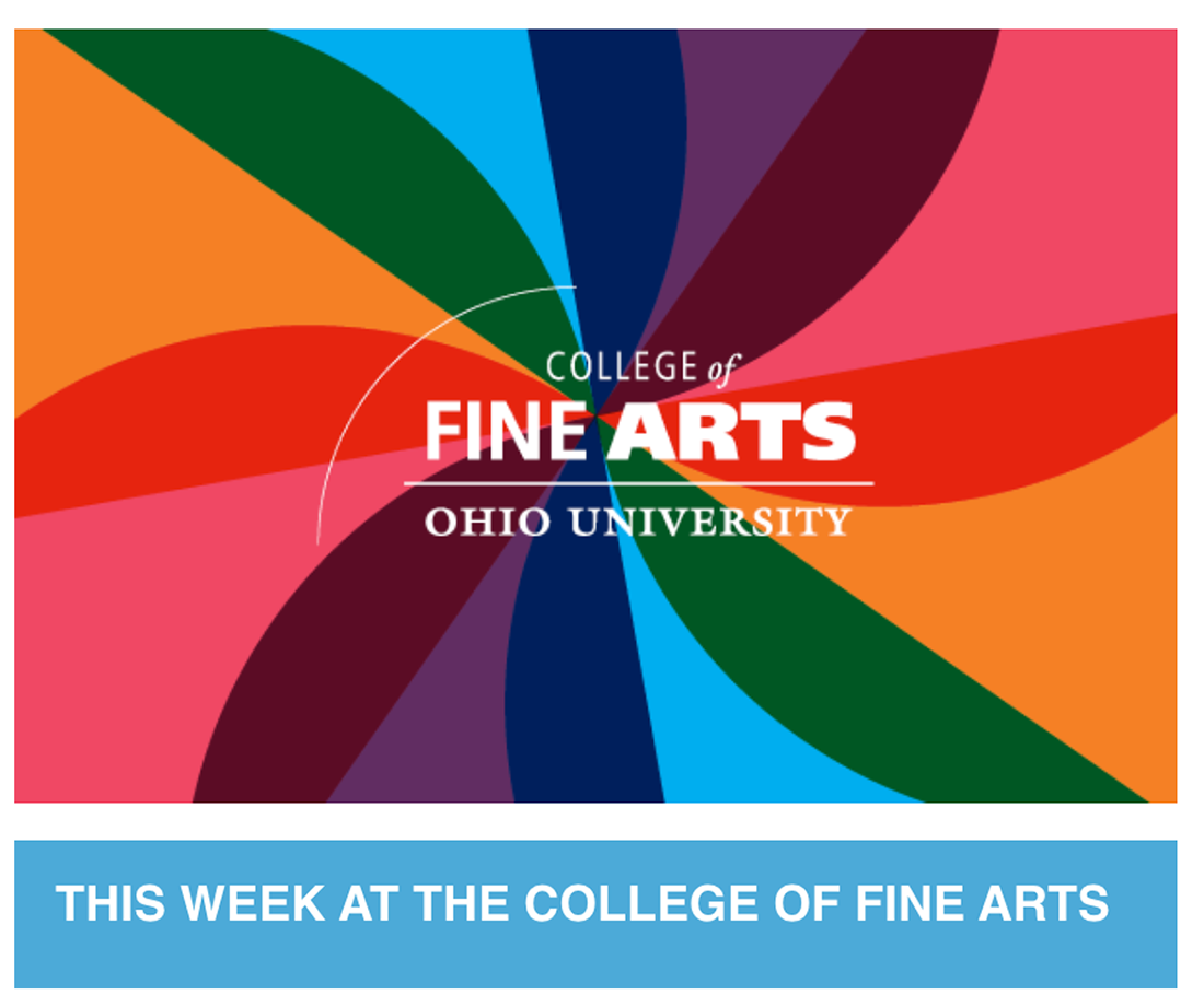 This Week in Fine Arts (Newsletter graphic)