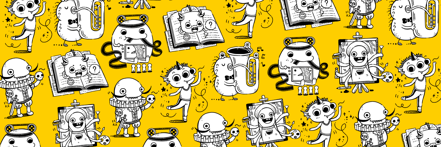 Characters on Yellow