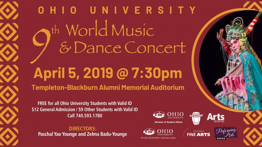 2019 World Music and Dance Concert Poster