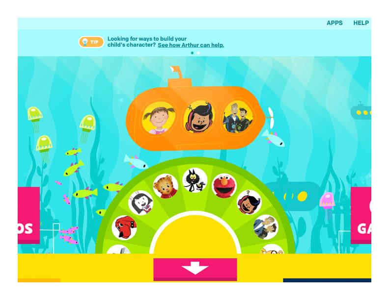 PBS Kids home page