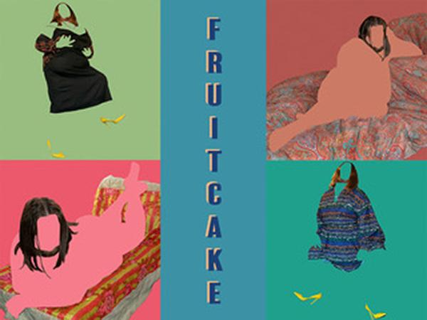 "Artwork with text that reads ""fruitcake"""