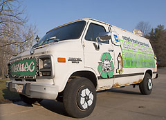 RecycleMania van