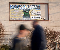 RecycleMania poster on the Oasis