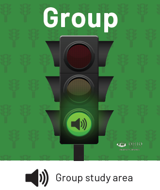 Green Light image in Alden indicates Group Study Space