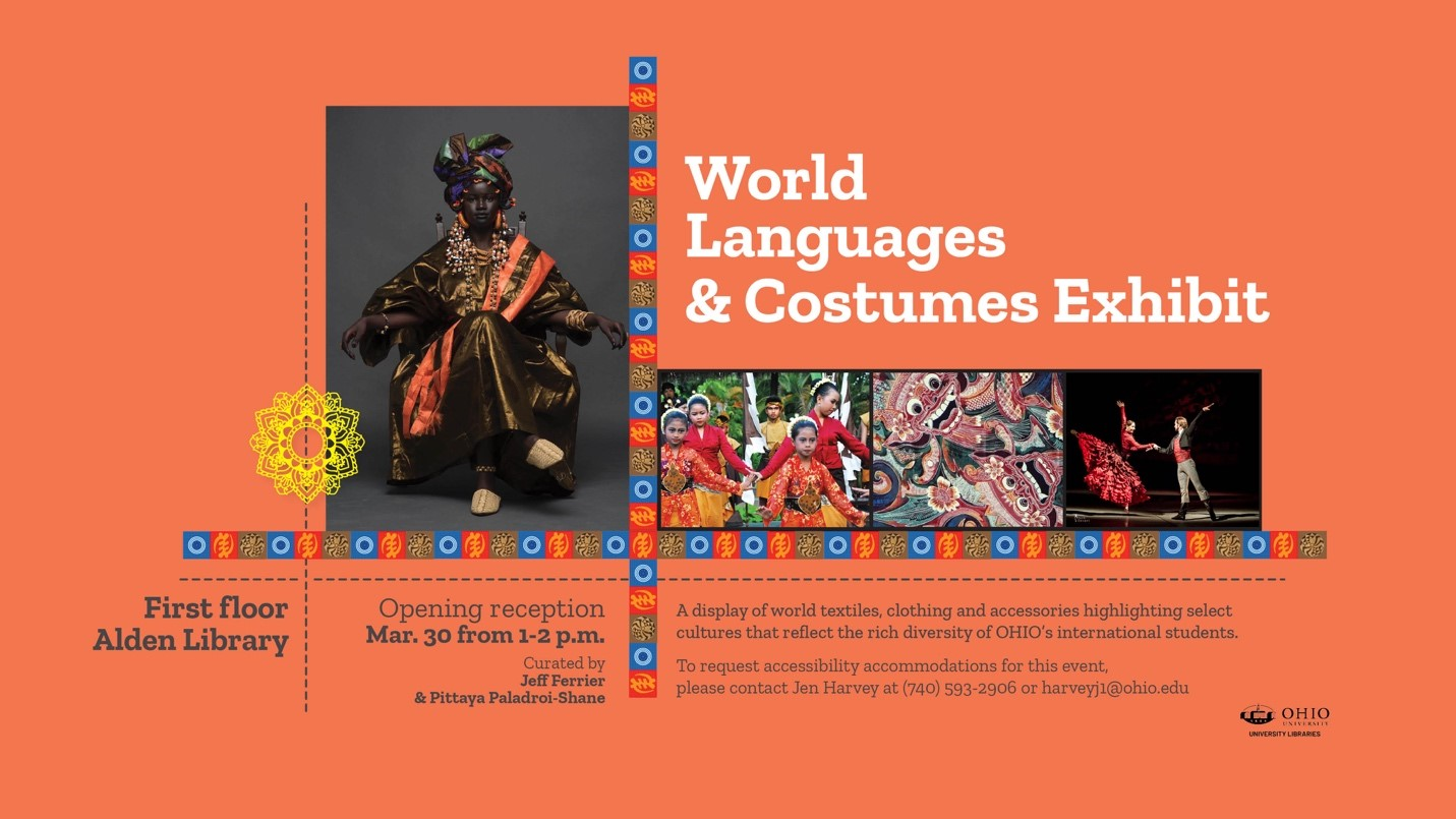 World Languages and Costume Exhibit Banner