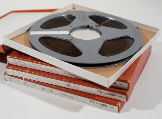 "Reel-to-reel tapes of ""Book Beat,"" from the Don Swaim Collection"