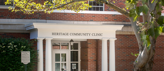 Entrance of Heritage Community Clinic