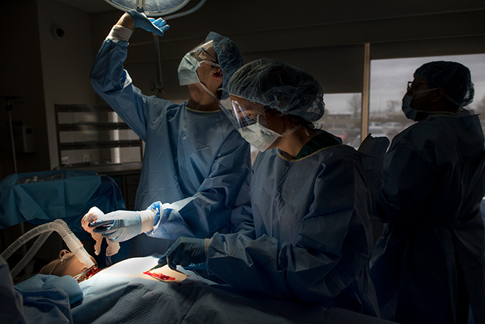 Students in Operating Room