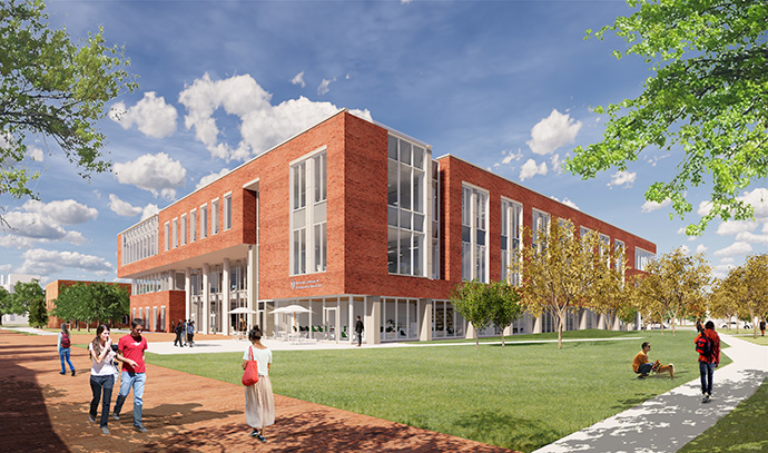 artist render of new meded building