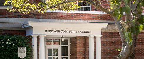 Heritage Community Clinic entrance