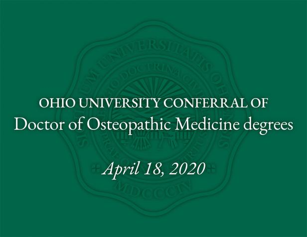 Ohio University medical students to receive degrees early to aid with pandemic