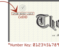 An example of an electronic degree and where to find the CeDiD number.