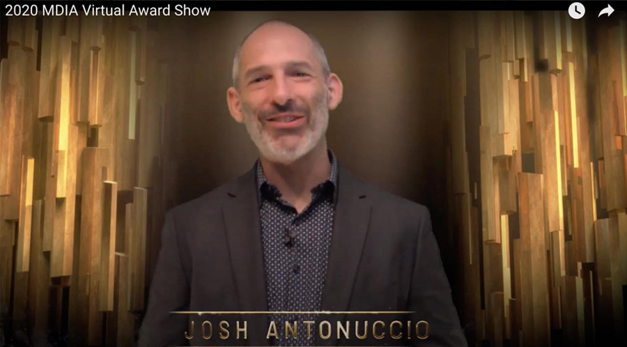 Josh Antonuccio hosts the 2020 MDIA Virtual Awards