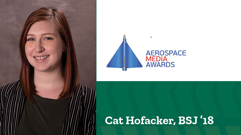 Journalism alumna up for Aerospace Media Best Young Journalist Award