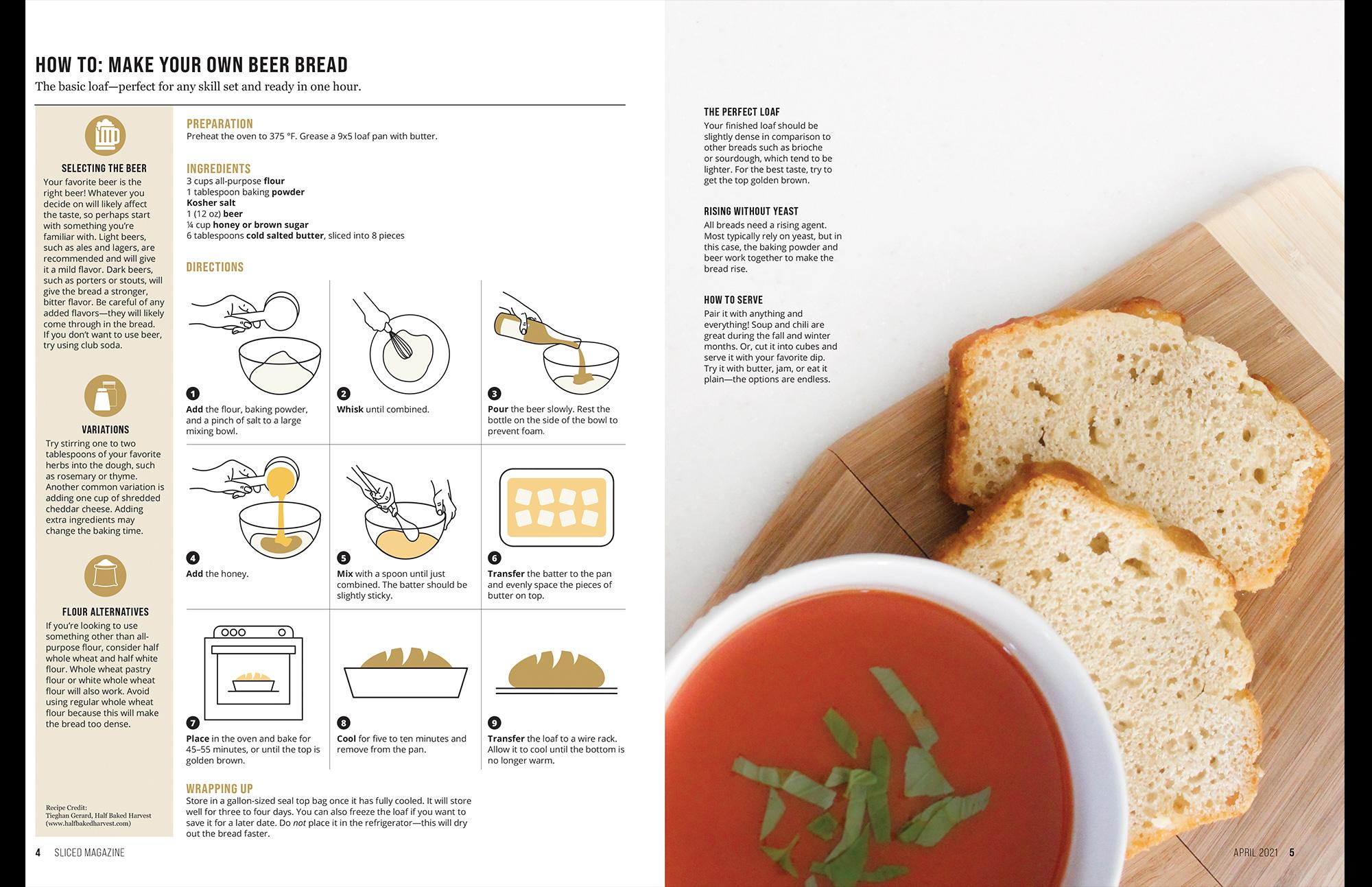 beer bread layout
